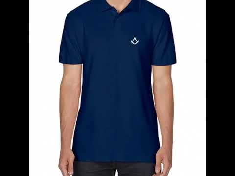 video Masonic polo T-Shirt embroidered masonic gift or present for Freemasons