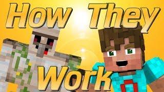 How Iron Golems Work in Minecraft | How to make an Iron Farm | Golem mechanics | Why Golems Spawn