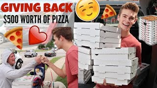 GIVING OUT $500 WORTH OF PIZZA TO THE HOMELESS