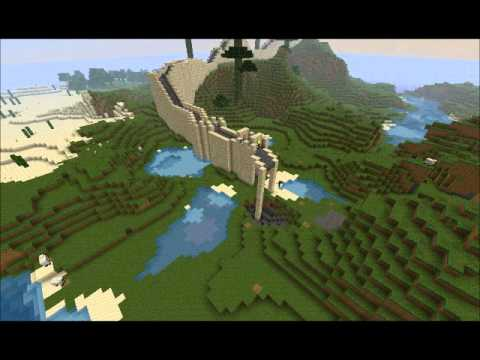 Minecraft great wall of china map download