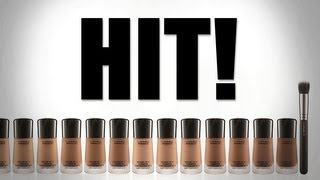 HIT! NEW MAC MINERALIZE MOISTURE FOUNDATION REVIEW - 1ST IMPRESSIONS/DEMO/BLOOPERS!