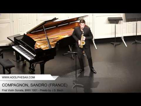Dinant 2014 - COMPAGNON, Sandro (First Violin Sonata, BWV 1001 - Presto by J.S. Bach)