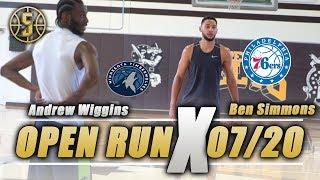 NBA Open Run Ben Simmons , Andrew Wiggins, and more