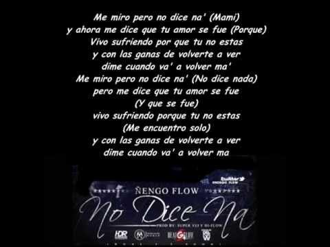 Ñengo Flow -No dice na' (Con letra//lyrics) REGGAE