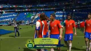 2014 FIFA World Cup Brazil - Italy vs Costa Rica Gameplay [HD]