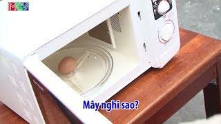 Mây hướng dẫn cách luộc trứng bằng lò vi sóng và cái kết NỔ BANH LÒ
