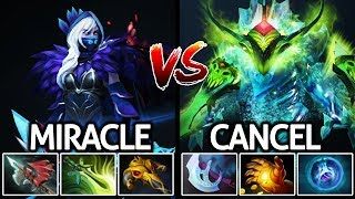 Miracle- Drow Ranger VS CanceL Morphling Battle Agi Hero Solo Mid Meta 7.21 Dota 2