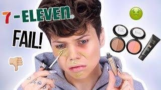 TESTING 7-ELEVEN MAKEUP?! FAIL!!! (It burned my skin) | Thomas Halbert