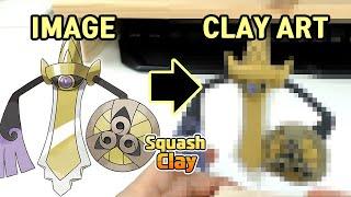 Pokémon Clay Art: Aegislash Steel/Ghost Pokémon!