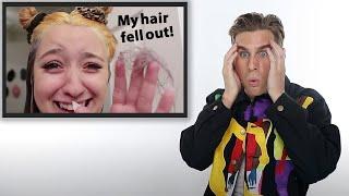 Hairdresser Reacts To Bleach Fails