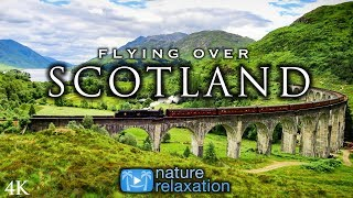FLYING OVER SCOTLAND (Highlands / Isle of Skye) 4K UHD Drone Film + Healing Music for Stress Relief