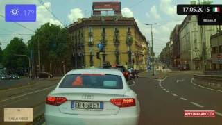 Driving Through Milano (Italy) 17.05.2015 Timelapse X4