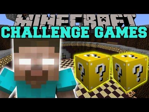 Minecraft: HEROBRINE CHALLENGE GAMES - Lucky Block Mod - Modded Mini-Game