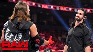 AJ Styles steps to Seth Rollins: Raw, Aug. 12, 2019