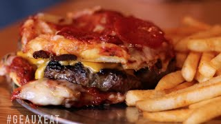 You Have To Try Deano's Pizza Burger in Lafayette, LA | #GeauxEat