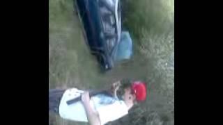 Double barrel sawed off at car door