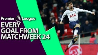 Every goal from Premier League Matchweek 24 | NBC Sports
