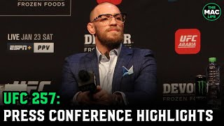 UFC 257: Conor McGregor vs. Dustin Poirier Press Conference (Highlights)