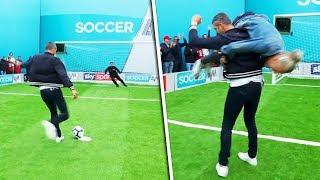 Ian Holloway v Carl Froch | Penalties, volleys, free kicks & crossbar challenge | Soccer AM Pro Am