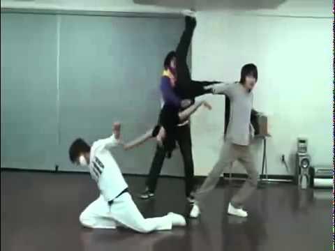 SUPER JUNIOR Sungmin, Eunhyuk, Leeteuk, Shindong Dance Battle Practice