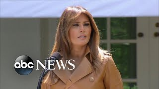 Trump visits first lady in hospital after kidney procedure