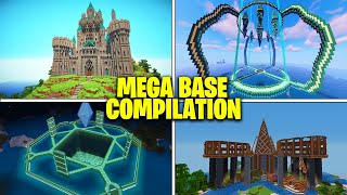 13 BEST Minecraft MEGA BASES! (Minecraft Mega Base Compilation)