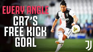🎥🎯??CR7's First Juventus Free Kick Goal - From Every Angle! | Juventus v Torino