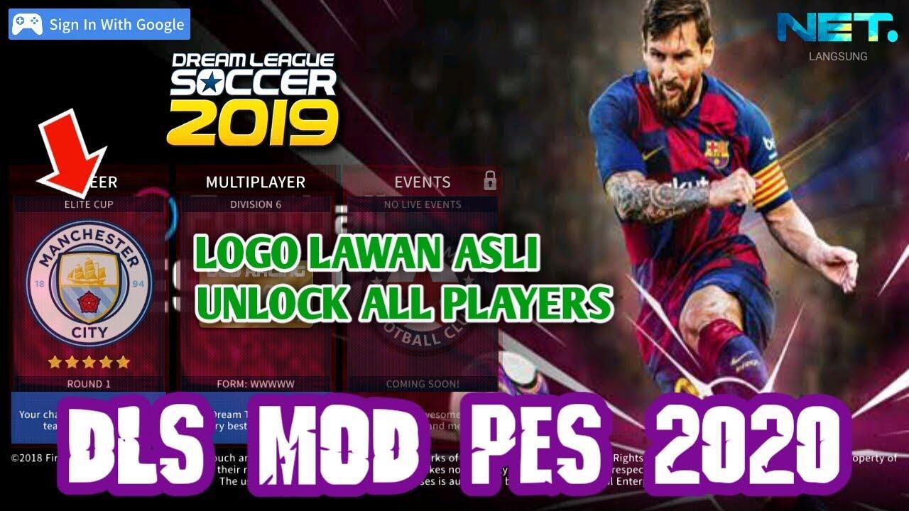 KEREN!! DLS MOD PES 2020 - LOGO LAWAN ASLI | UNLOCK ALL PLAYERS