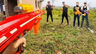 Nerf  War Games Squad Alpha Man Nerf Guns Bandits Diamond Special Police Rescue Pretty Girl
