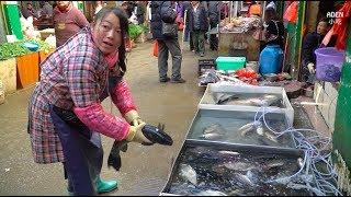 魚切割 - 農貿市場 -昆明 中国
