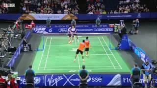 Mixed Team Bronze - SIN vs IND - MD - 2014 Commonwealth Games badminton