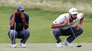 Tiger Woods vs Dustin Johnson Match   First Round US Open 2020