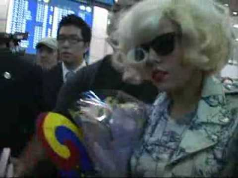 Lady Gaga arrives at Seoul Airport