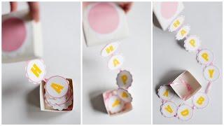 How to Make - Surprise Box Birthday Gift - Step by Step DIY   Pudełko Niespodzianka Urodziny