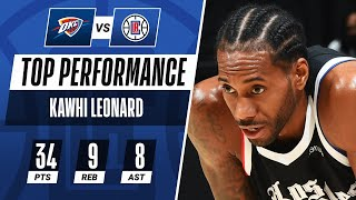 Kawhi Leonard (34 PTS, 9 REB, 8 AST) Leads The Clippers To Their 7th Win In A Row! 🔥