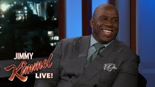 Jimmy Kimmel Really Wants to Vacation with Magic Johnson & Samuel L. Jackson