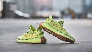 "Review & On-Feet: Adidas Yeezy Boost 350 V2 ""Semi Frozen Yellow"""