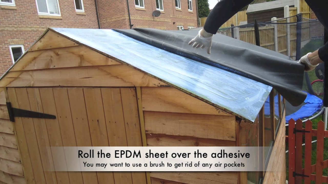 How To Waterproof Your Shed Roof With Epdm Youtube