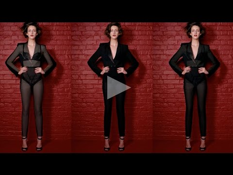 ceft and company: x-ray never underdressed ad with model cris herrmann director karen collins
