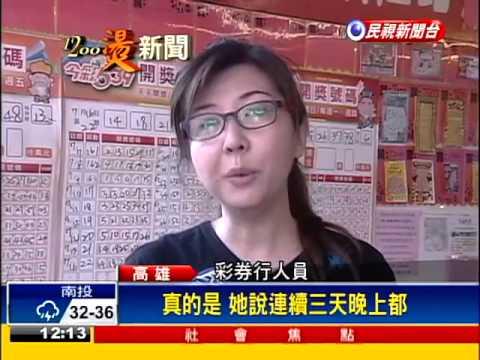 中3.6億大樂透 卡債族變富婆-民視新聞