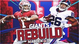 Rebuilding The New York Giants   Kyler Murray Is The BEST Rebuild QB Yet!   Madden 19 Franchise Mode