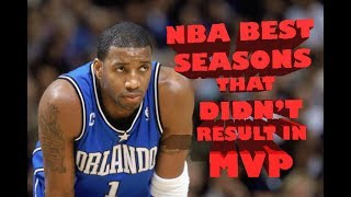 NBA Top 10 Best Seasons that Didn't Result in MVP