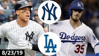 New York Yankees vs Los Angeles Dodgers Highlights | August 23, 2019 (2019 MLB Season)