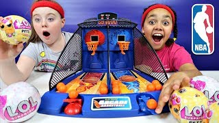 Arcade Basketball Game Toy Challenge - LOL Pets - LOL Surprise Dolls Prizes | Toys AndMe