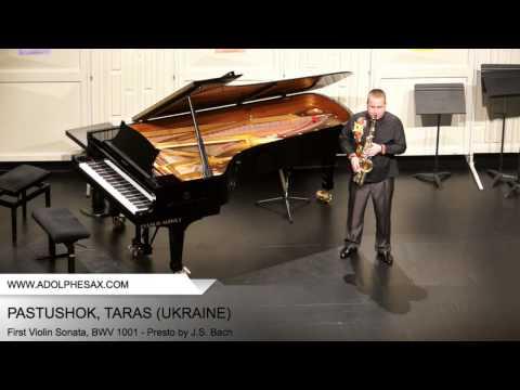 Dinant2014 PASTUSHOK Taras First Violin Sonata, BWV 1001 Presto by J S Bach