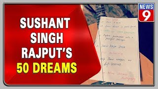 Sushant Singh Rajput's 50 dreams goes viral on social medi..