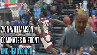 Zion Williamson Dunk Show In Front UNC Head Coach! Dominates State Quarter-Finals Full Highlights