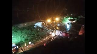 Air india express flight from Dubai crash lands at calicut..