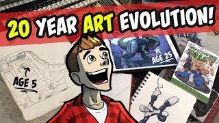 20 YEAR SKETCHBOOK TOUR | Childhood - Art School - Animation Career