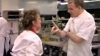 Gordon Ramsay misses a slap in the face